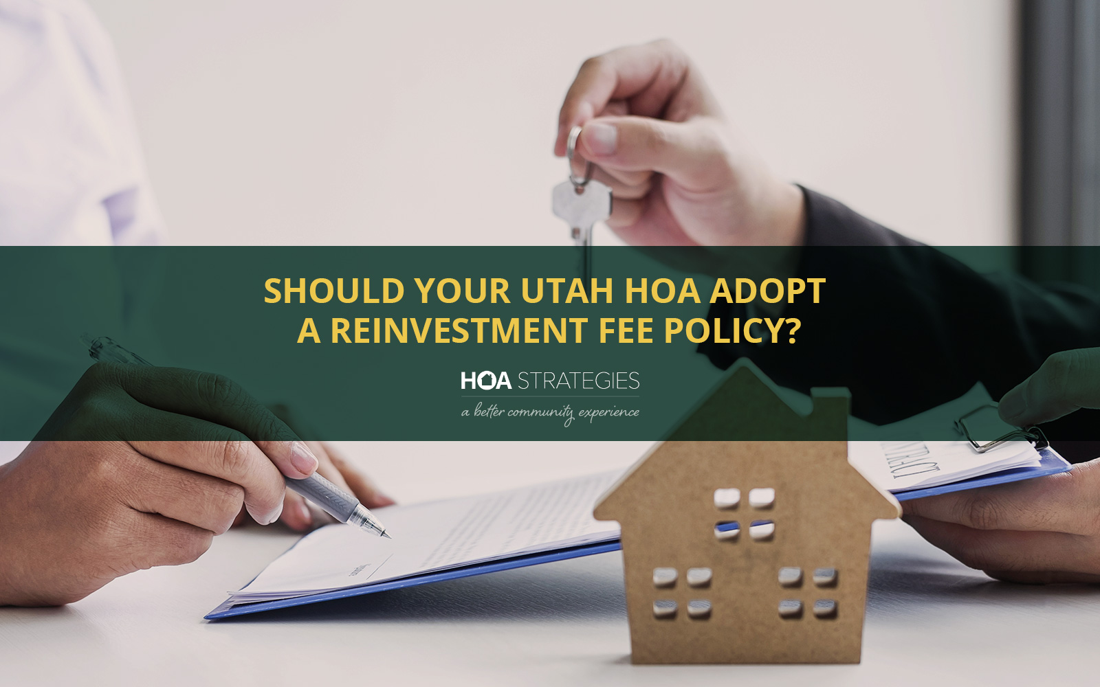 Utah HOA Rinvestment Fee Policy